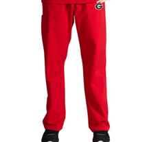 University of Georgia Unisex College Scrub Pants 5310