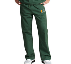 University of Miami Unisex College Scrub Pants 5310