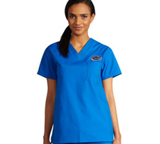 University of Florida Unisex College Scrub Top 5450