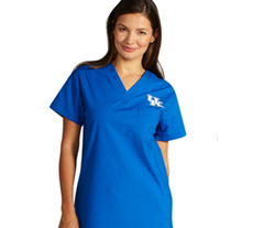 University of Kentucky Unisex College Scrub Top 5450