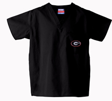 University of Georgia Black 1-Pocket Top